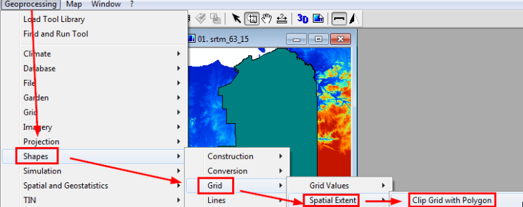 Clipping grids with polygons – Saga GIS tutorials